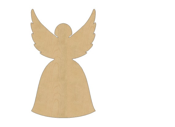 Angel Cutout Shape Laser Cut Unfinished Wood Shapes Craft