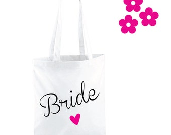 Bride Tote Bag. Bride Gift. Wedding Bag. Bride Bag. Wedding Gift. Bride To Be. Bridal Gift. Hen Gift.