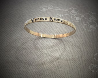 5mm gold filled personalized Hawaiian bangle