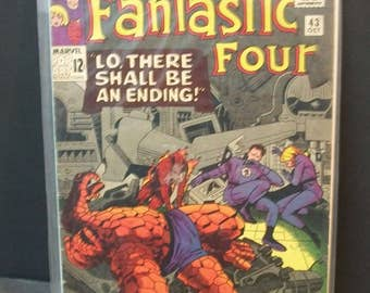 1965 Fantastic Four #43 The Frightful Four Brainwashes Thing and Human Torch Good-VG Condition   Vintage Marvel Comic Book