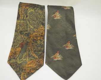 Vintage Hiro Men's neckties High Fashion Made in Germany Silk & Polyester