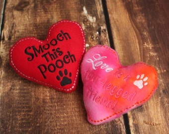 Valentine Heart Stuffed Dog Toy with Squeaker