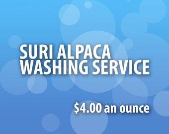 WASHING SERVICE for SORTED Suri Alpaca Locks
