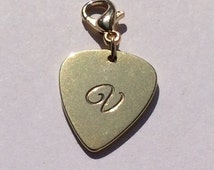 Guitar Pick Charms, personalized Charms , women jewelry