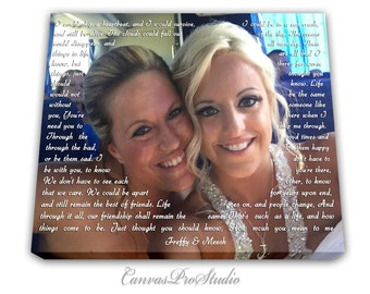 Original Canvas Gift Personalized Best Friend Gift,Custom Gift Idea for Sister, Gift Wall  Decor for Bride, Sister to Sister, Maid of Honor