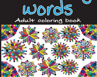 Adult Coloring Books: Insulting Words 20 Designs Print DIGITAL DOWNLOAD