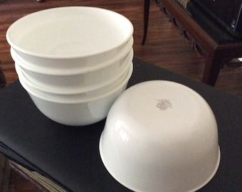 5 Winter Frost White Corelle 28 oz Soup Cereal Bowls