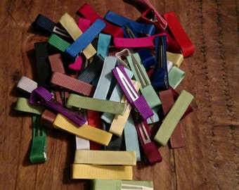 100 Piece Lined Single Prong Alligator Clips Assorted Colors