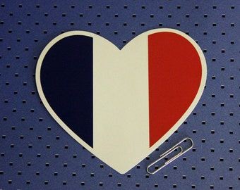 France Heart Bumper Sticker
