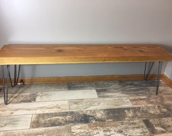 Wooden Bench Hairpin Legs, Reclaimed Wood Furniture