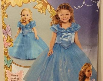 Simplicity 1028 or S0228 Disney Princess Halloween Costume Pattern Toddler  Cinderella Sizes 3-8