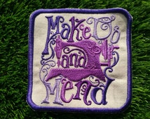 Make Do and Mend embroidered patch sewing self sufficiency reliance frugal thrifty craft badge