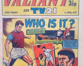 VINTAGE COMIC - the VALIANT collectible, 1970s, colour comic, nostalgic, football
