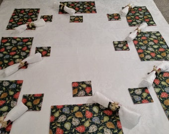 Christmas Placemat and Coaster. 8 sets available
