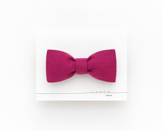 magenta self tie bow tie for plum linen s bow