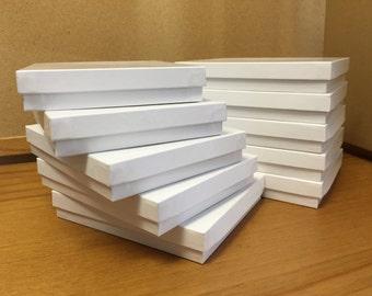 """10pk Gloss White Jewelry Boxes (5""""W x 6""""L x 1""""H)"""