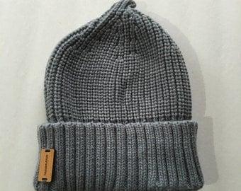 Chic Gray Beanie Hat