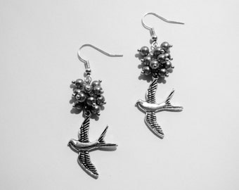 Silver Bird Earrings AR069/AR098
