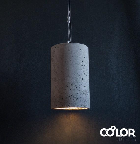 industrial concrete pendant light large