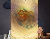Abstract Dream Catcher Signed Art Print - Hippie Wall Art | Modern Boho Decor | Space Spiral, Cosmic, Fractal Art Print, Digital Download