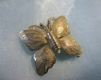 Little Vintage Gold Toned Butterfly Pin