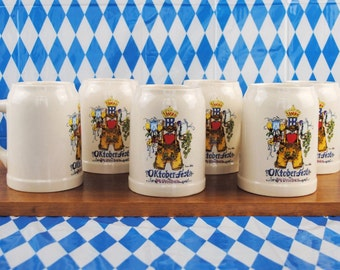 Vintage * Bierkrug 0,5 l * Original HOFBRÄUHAUS Edition Oktoberfest München * bayerische Lederhose * bunt