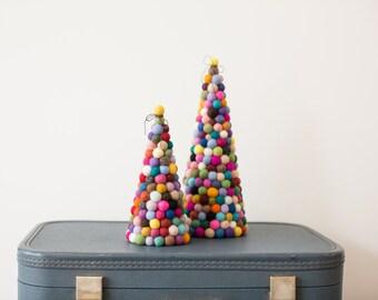 Felt ball tree, Original modern felt ball pom pom Christmas tree 20cm