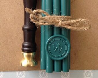 """Quail Wax Seal Stamper Bundle - 3/4"""" wax stamper & 25 wax sticks."""