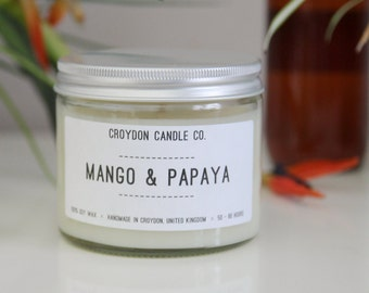 MANGO & PAPAYA Soy Jar Candle