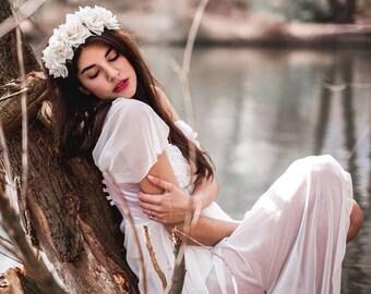 Haarreif weiße Rosen