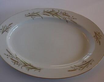 """Golden Harvest 14"""" Oval Serving Platter"""