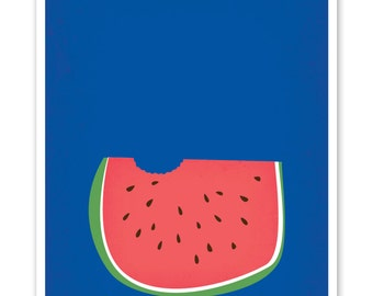 "single card ""watermelon"""
