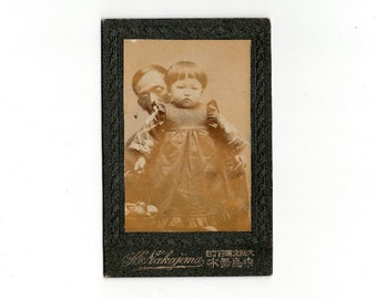 japanese attempted hidden father cabinet card photo