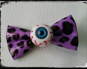 """Barrette """"Purple eye"""""""