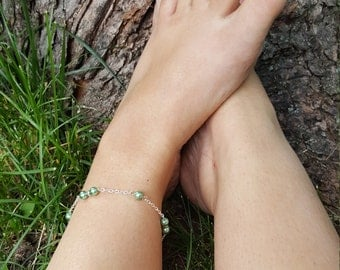 "10"" Pearl Beaded Anklet"