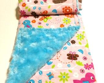 Bye Bye Birdie Baby/Toddler Blanket - Snuggle Blanket
