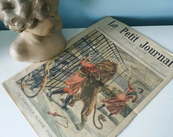 Antique French newspaper Le Petit Journal 18 November 1900