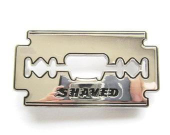 Shaved Razor Blade Bottle Opener Belt Buckle