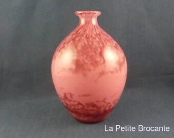 André Delatte, ovoid vase pink Art Deco
