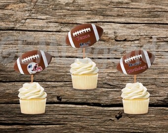 New England Patriots Cupcake Toppers, Patriots Cupcake Toppers, Patriots Birthday, Patriots Party,NFL Party, NFL Birthday,Instant Printable