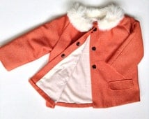 Baby Coat PDF Pattern- Baby Balmacaan with Collar