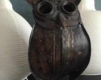 ON SALE*****Huge Mid Century Modern Brutalist Metal Owl Statue