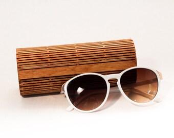 Laser Cut Wood Glasses Case / Living Hinge Design / Cinnamon