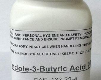 Supergrow Indole-3-butyric acid 99% High Purity Powder Tamper Sealed Bottle 50g, 100g