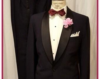 Super Swanky Vintage Mens 1950's Selix of San Francisco Tuxedo ~ Hard to Find Shawl Collar ~  L@@k!!!!!