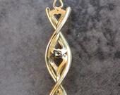 Heart Helix DNA-Inspired Valentine Pendant