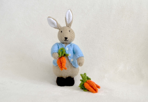 Peter Rabbit Knitting Pattern Download : Peter bunny rabbit pattern from nowmine on etsy studio