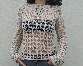 Women crochet tunic, crochet tunic, cotton crochet tunic, summer clothes, women crochet, women crochet tops, white tunics, summer tops.