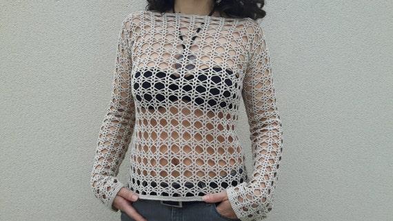 Women Crochet Tunic Crochet Tunic Cotton Crochet Tunic