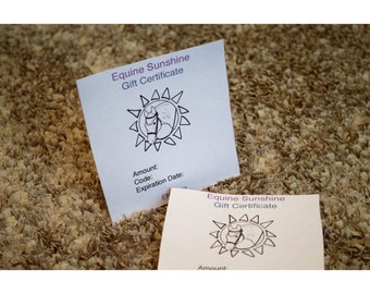 Equine Sunshine Gift Certificate